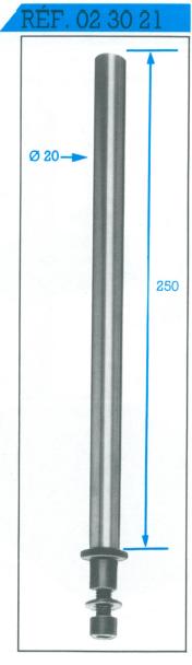 colonne avec adaptateur